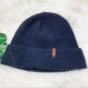 Barts Knitted Navy Ribbed Winter Beanie Hat D1982